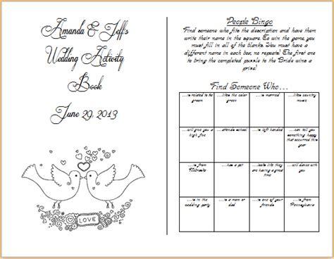 kids activity book weddingbee photo gallery
