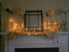 fireplace mantel decorations  pinterest wedding