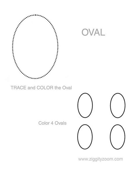shapes worksheet oval homeschool activities and shape