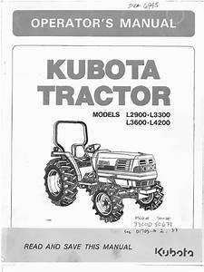 Kubota L2900  L3300  L3600  L4200 Owners Manual Pdf