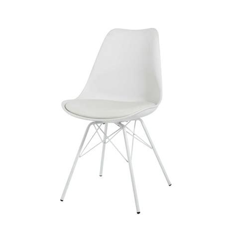 chaise blanc chaise blanche en polypropylène et métal blanc coventry