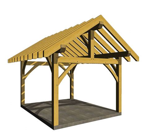 Post And Beam Shed Plans by 14x14 Post And Beam Outbuilding Timber Frame Hq