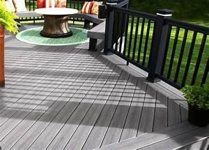 Revetement Sol Exterieur Composite : gris revetement sol exterieur terrasse decking gris bois ~ Edinachiropracticcenter.com Idées de Décoration