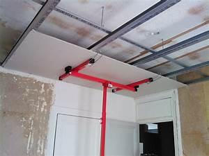 Pose De Faux Plafond : plaque de platre faux plafond menuiserie image et conseil ~ Premium-room.com Idées de Décoration