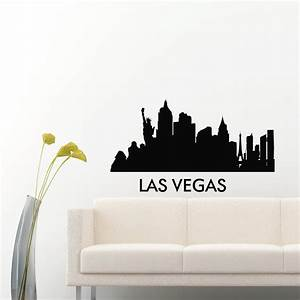 las vegas skyline city silhouette wall vinyl decal sticker With vinyl lettering las vegas