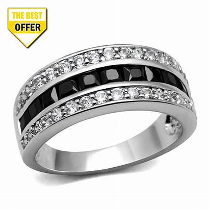 Rings Ring Diamond Stainless Steel Wildklass Cz