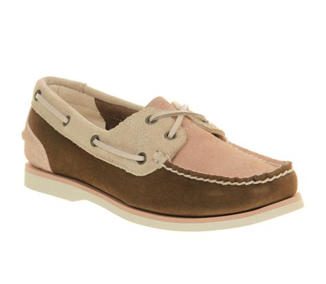 Timberland Boat Shoes Pink by Timberland Ek Classic Unlined Boat Shoe Brown Pink Beige