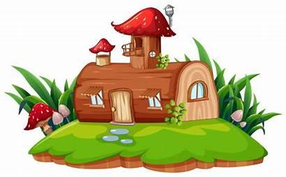 Fantasy Clipart Casa Ein Isoliertes Vektoren Freigestellt