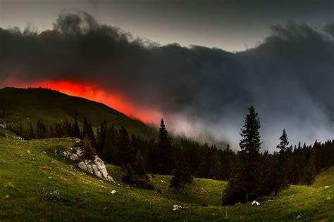 sunrise rarau mountains romania photo  sunsurfer