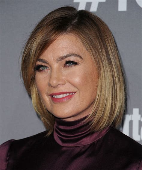 Ellen Pompeo Medium Straight Casual Bob Hairstyle with