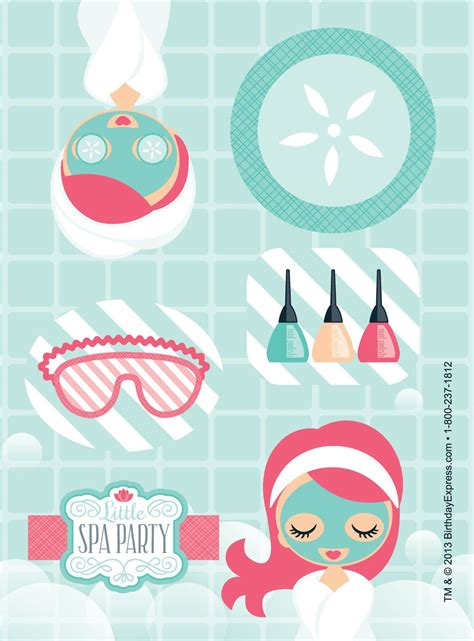 spa party sticker sheets  ahhhh spa party