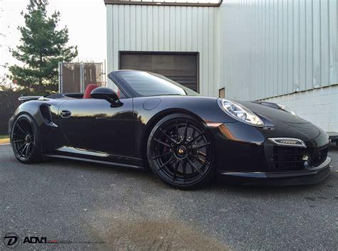 porsche turbo wheels black porsche 991 turbo s adv6 2 m v2 cs concave wheels