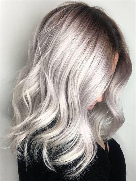 Grey Hair Frosting Shades Pinterest Deborahpraha Silver