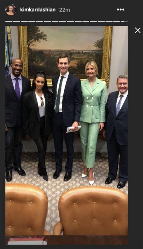 updated kim kardashian visits  white house  talk