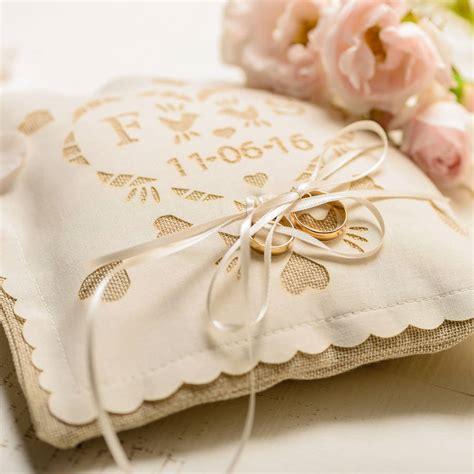 personalised wedding ring pillow by baloolah bunting notonthehighstreet com