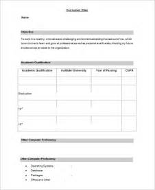 free format of resume for freshers 28 resume templates for freshers free sles exles formats free premium