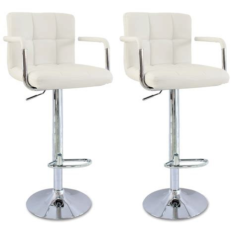 White Breakfast Bar Stools by 1 2 X Bar Stools Faux Leather Kitchen Chrome Stool