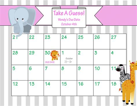 baby due date pool template 5 best images of baby countdown calendar printable pregnancy countdown calendar printable