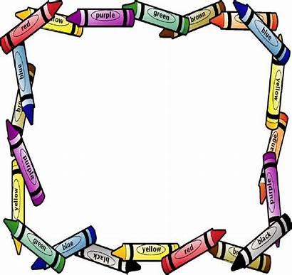 Border Crayon Borders Clipart Crayola Crayons Education