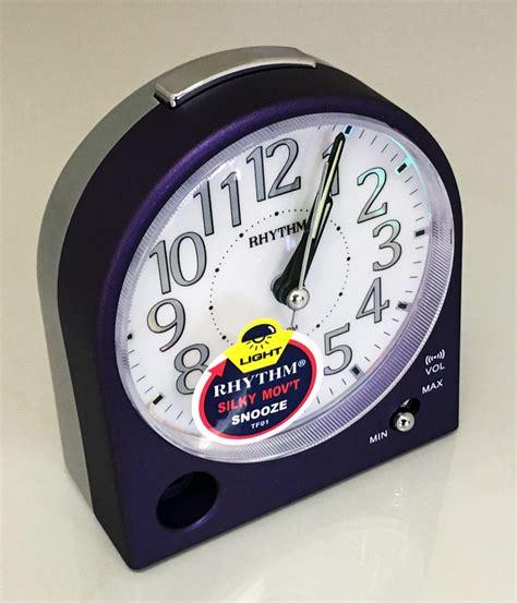 bedroom alarm clock stylish metallic silent bedroom alarm clock loud beep 10273
