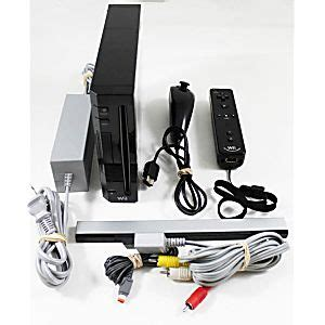 Buy Wii Console by Wii Black Console Refurbished
