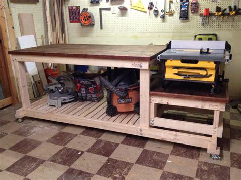 built  sturdy mobile workbench   tiny workshop