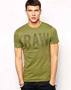 c23c65a85da g star raw g star t shirt terrams rib raw logo in green for men lyst. g star  lamar short sleeve white ...