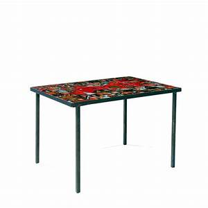 annees 50 table basse a structure metallique laquee noir pl With table basse annees 50