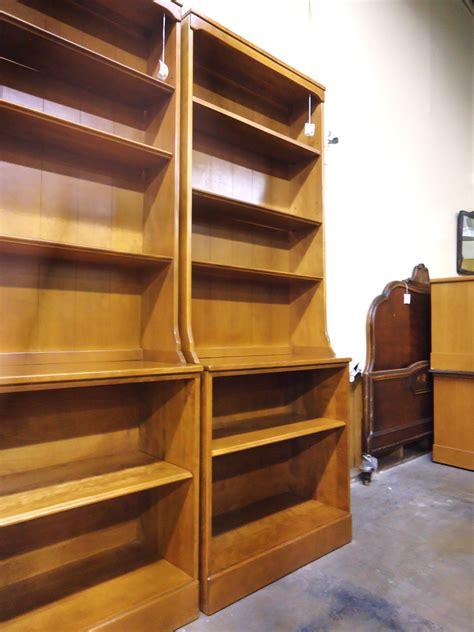 ethan allen maple  birch bookshelf