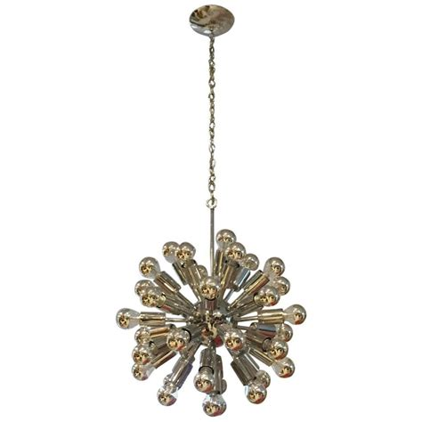 chrome sputnik chandelier mid century chrome sputnik chandelier modernism