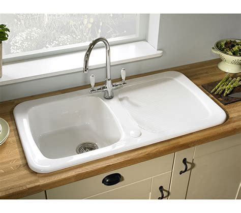 small ceramic kitchen sinks astracast aquitaine 1 0 bowl ceramic gloss white inset 5360