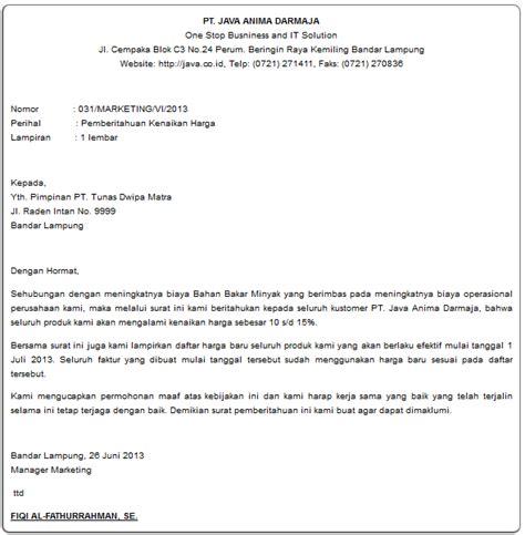 Contoh Surat Penawaran Barang Elektronik Beserta Daftar Harga by Contoh Surat Komplain Pengaduan Barang Produk Beserta