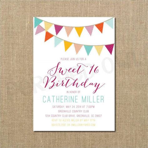 birthday invitation banners design templates