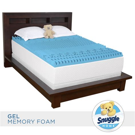 memory foam mattress topper snuggle home size 3 quot gel memory foam 7 zone mattress