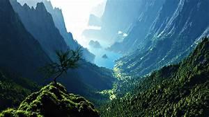 Mountain Valley HD wallpaper