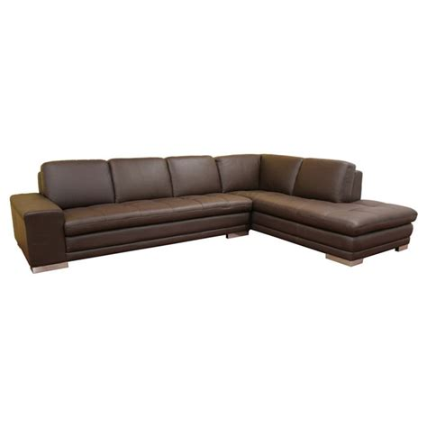 brown leather chaise sofa brown leather sectional sofa with chaise smileydot us
