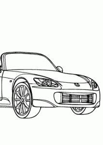 super car honda  coloring page cool car printable