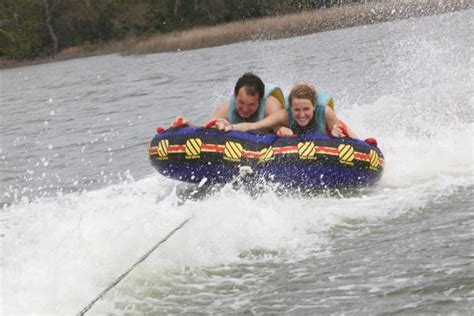 Boat Rentals With Tubing Near Me by Sky Pirate Parasail 187 Tubing And Water Skiing