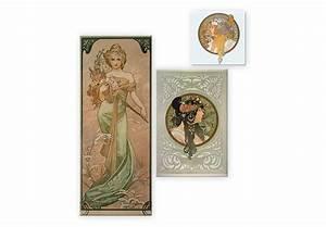 Glasbild 3 Teilig : mucha 2 3 teilig elegantes trio auf glas wall ~ Orissabook.com Haus und Dekorationen
