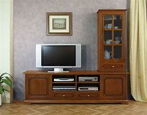 Meuble Tv Vitrine : composition meubles tv meuble tv et vitrine meubles de style pour le salon ebay ~ Teatrodelosmanantiales.com Idées de Décoration