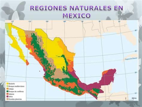 las regiones naturales de mxico regiones naturales