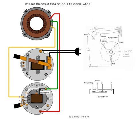 wiring diagram 1914 ge collar oscillator pre 1950 antique antique fan collectors