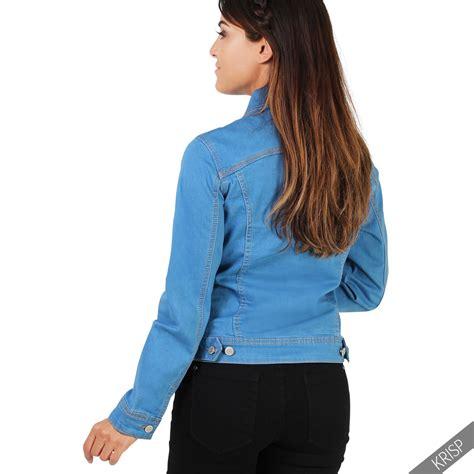 light denim jacket womens womens ladies light stretch denim jacket classic summer