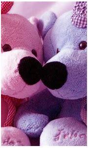 Pink And Blue Teddy Bear Computer wallpaper   cute ...
