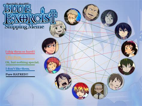 Blue Exorcist Memes - ao no exorcist shipping meme 2015 by lucarioyoshi88 on deviantart