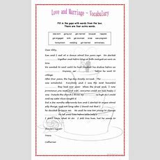 Love And Marriage Worksheet  Free Esl Printable Worksheets Made By Teachers
