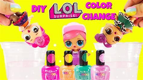 lol surprise diy mood color change nail polish doll