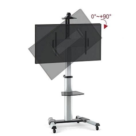 supporto mensola vetro porta tv trolly su ruote con mensola in vetro da 37 a 70