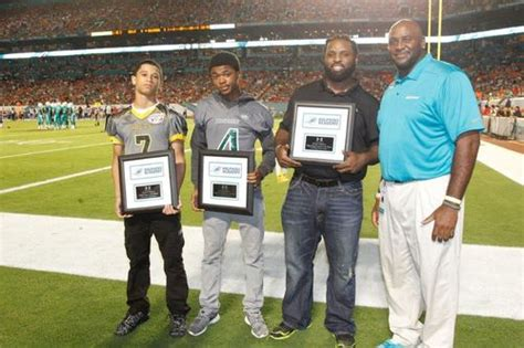Dolphins Honor Youth High School Player Coach of the