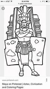 Mayan Mask Aztec Coloring Printable sketch template